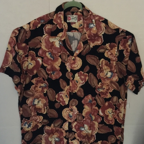7fdae54dd1848 Hilo Hattie Shirts   Hawaiian Shirt Watercolor Floral   Poshmark